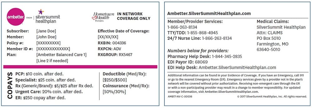 Group Number On Insurance Card Ambetter