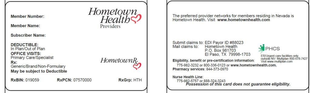 ppo member id card