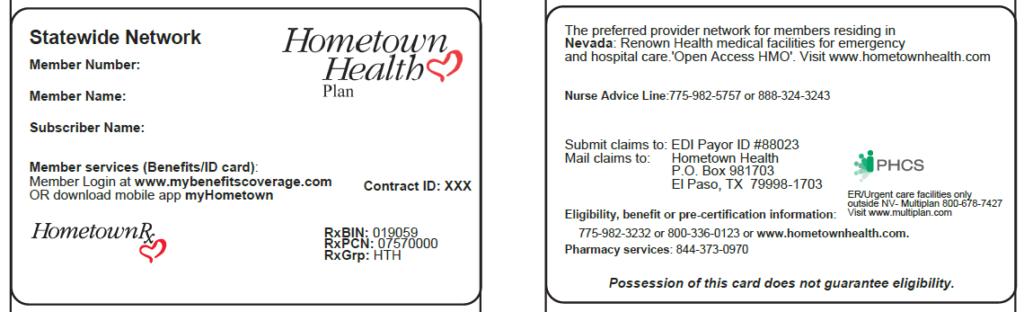 member id card sample